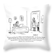 I Just Hope Joe Biden's Ok Throw Pillow