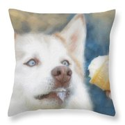 I Just Loooove Ice Cream Throw Pillow by Kenny Francis