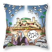 I Keep Hearing Music Throw Pillow
