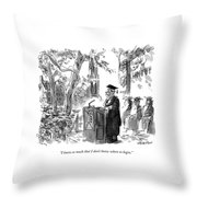 I Know So Much That I Don't Know Where To Begin Throw Pillow