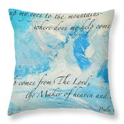 I Lift Up My Eyes Throw Pillow