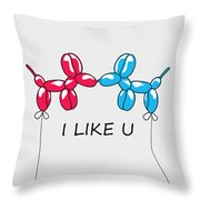 I Like You 2 Throw Pillow