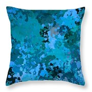 I Love Blue Throw Pillow