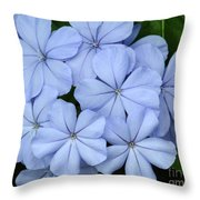 I Love Blue Flowers Throw Pillow