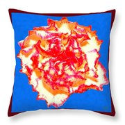 I Love Carnations Throw Pillow