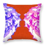I Love Carnations Collage Throw Pillow