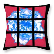 I Love Carnations Mosaic Throw Pillow