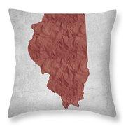 I Love Chicago Illinois - Red Throw Pillow