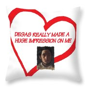 I Love Degas Throw Pillow