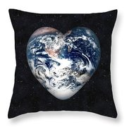I Love Earth Throw Pillow