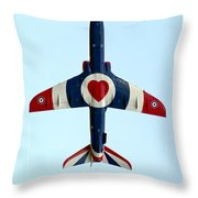 I Love Flying Throw Pillow