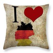 I Love Germany Throw Pillow