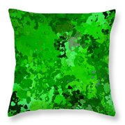 I Love Green Throw Pillow
