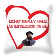 I Love Monet Throw Pillow