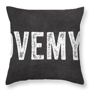 I Love My Dog Throw Pillow by Linda Woods