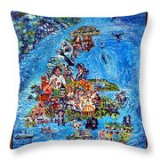 I Love Newfoundland Throw Pillow