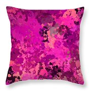 I Love Pink Throw Pillow
