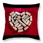 I Love Red Wine Throw Pillow