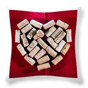 I Love Red Wine - Square Throw Pillow