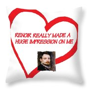 I Love Renoir Throw Pillow