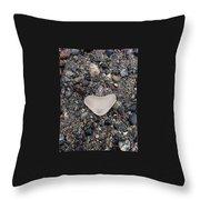 I Love Seaglassing Throw Pillow