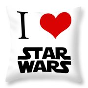 I Love Star Wars Throw Pillow