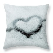 I Love The Winter Snow Throw Pillow