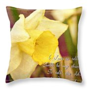 I Love To Tell The Story Throw Pillow by Michelle Greene Wheeler