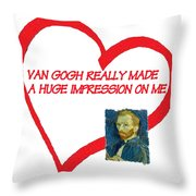 I Love Van Gogh Throw Pillow