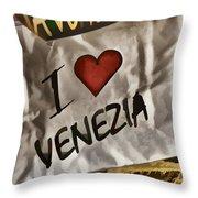 I Love Venezia Throw Pillow