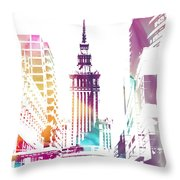 I Love Warsaw Throw Pillow