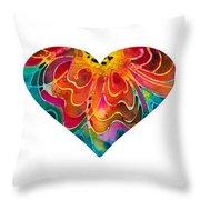 I Love You 17 - Heart Hearts Romantic Art Throw Pillow