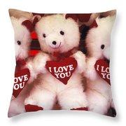 I Love You Bears Throw Pillow