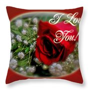 I love you greeting card red rose and white babys breath portable i love you greeting card red rose and white babys breath throw pillow m4hsunfo