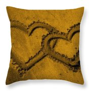 I Love You In The Sand Throw Pillow