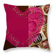 I Love You More Than I Love Chocolate 5 Throw Pillow