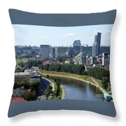 I Love You. Vilnius. Lithuania Throw Pillow