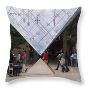 I M Pei Pyramid Inside The Louvre Entrance Throw Pillow