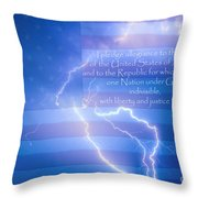 I Pledge Allegiance To The Flag  Throw Pillow by James BO  Insogna