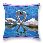 I Promise To Love You Poster By Diana Sainz Throw Pillow