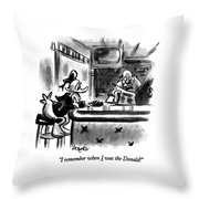 I Remember When I Was The Donald! Throw Pillow