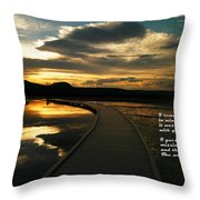 I Remember Your Hand Throw Pillow by Jeff Swan
