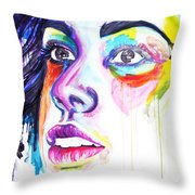 I Saw Colors Throw Pillow