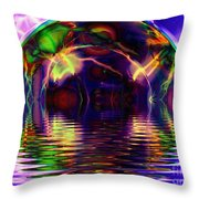 I Sing The Bubble Electric Throw Pillow
