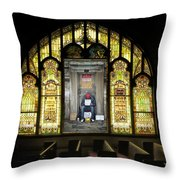 I Stand At The Door And Knock Composite Throw Pillow