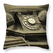 I Still Dial Throw Pillow