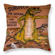 I Survived The Historic Pow Wow Throw Pillow