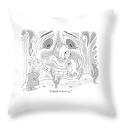 I Think It Loves Us Throw Pillow