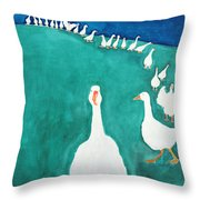 I Think Its Lunch Time, 2000 Throw Pillow