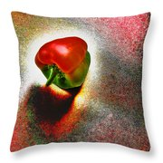 I Vote For A Really Hot Sweet Pepper Throw Pillow
